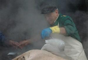lavorazione del maiale